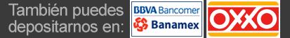 O depositar en Bancomer, Banamex u Oxxo