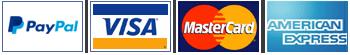 Puedes pagar con Paypal, Visa, Mastercard o American Express